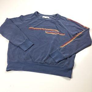 Blue Retro Print Spiritual Gangster Sweatshirt S